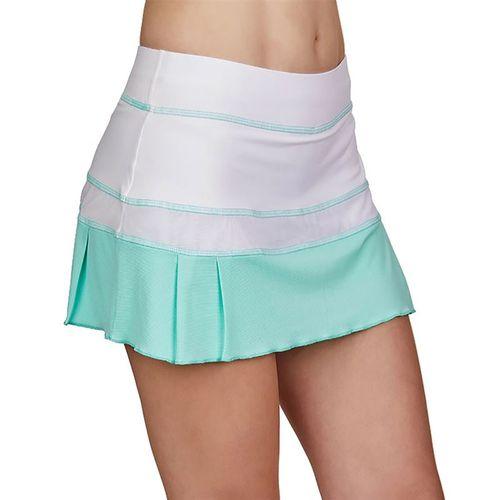 Sofibella Love At First Serve 13 inch Skirt Womens White/Sea Breeze Pique 1947 WHT