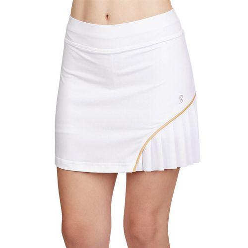 Sofibella Club Lux 14 inch Skirt Womens White/Gold 1977 WHT