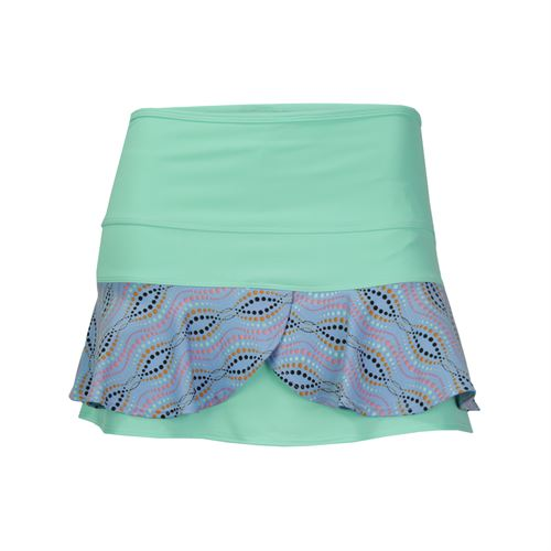 Jerdog Mingle Double Scallop Skirt - Mint/Print