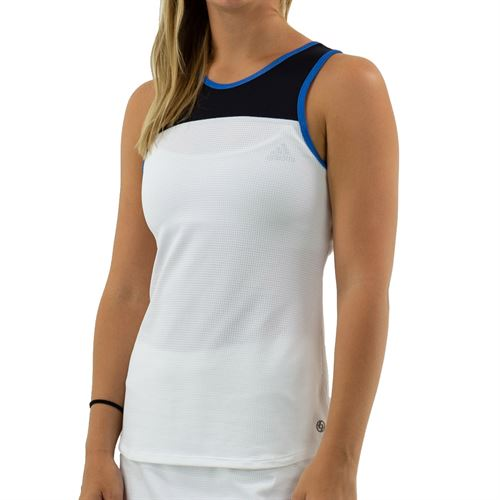 Lija Fuse Backdrop Tank Womens White/Black/Blue 19A 1606T5