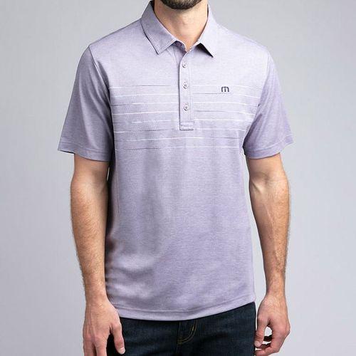 Travis Mathew Good Polo Shirt Mens Purple Sage 1MO118 5HPS