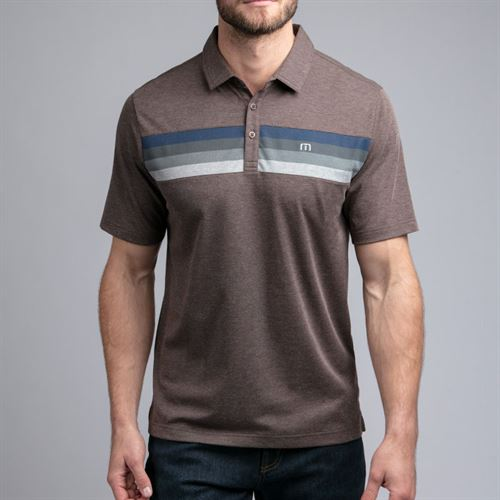 Travis Mathew Auto Pilot Polo Mens Heather Coffee 1MR110 2HCO