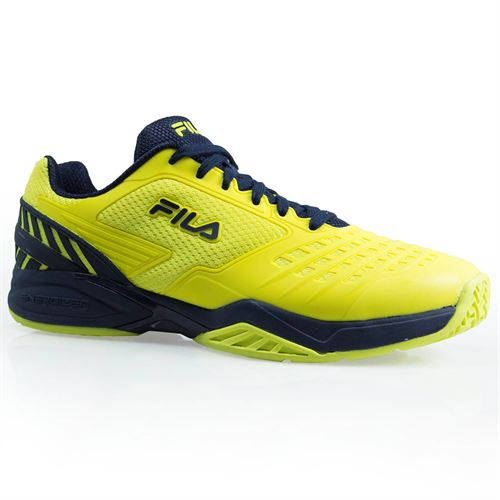 Fila Axilus Energized Mens Tennis Shoe - Lemon Tonic/Navy