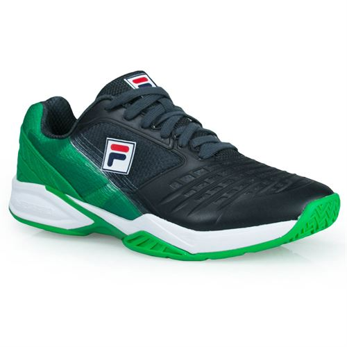 Fila Axilus Energized Limited Edition Pro 1 Mens Tennis Shoe - Ebony/Highrise/Bright Green