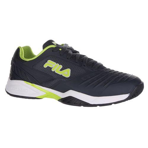 Fila Axilus 2 Energized Mens Tennis Shoe - Ebony/Lime Green/White