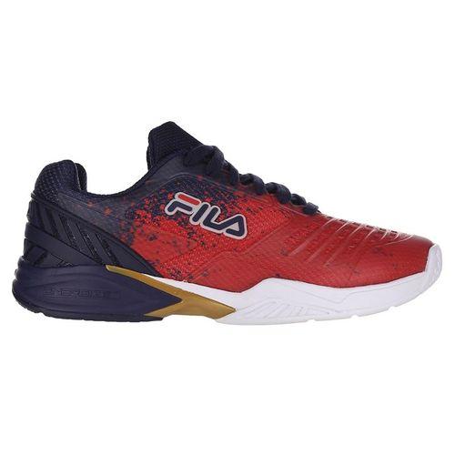 Fila Axilus 2 Energized Mens Tennis Shoe Navy/Red/White 1TM00593 422