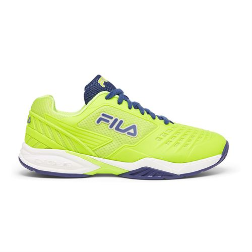 Fila Axilus 2 Energized Mens Tennis Shoe Lime Green/Blue 1TM00616 325