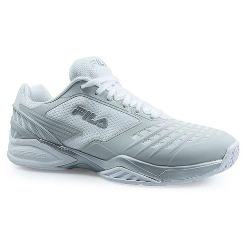 Fila Axilus Energized Mens Tennis Shoe - White/Metallic Silver