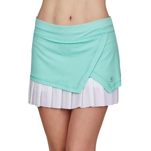 Sofibella Love At First Serve 14 inch Skirt Womens Sea Breeze Pique/White 2000 SEB