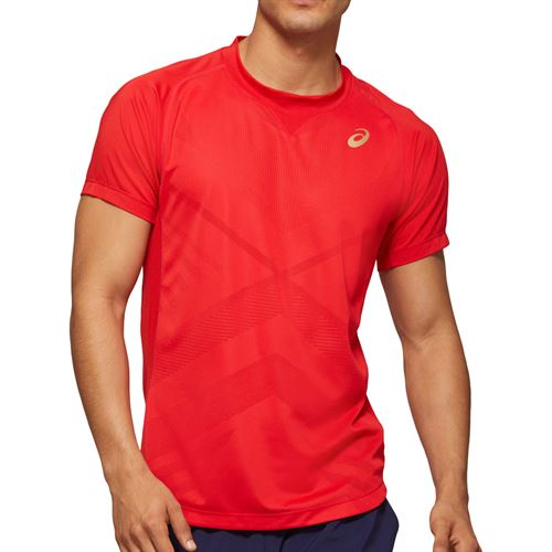 Asics Elite Tennis Shirt Mens Classis Red 2041A079 600