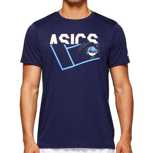 Asics Practice Graphic Tee Shirt Mens Peacoat 2041A090 401