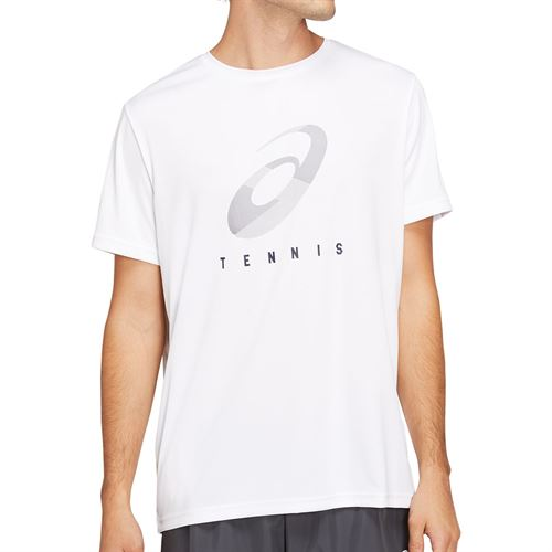 Asics Practice Spiral Tee Shirt Mens White/Peacoat 2041A100 109