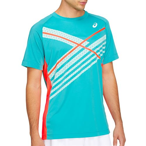 Asics Club GPX Tee Shirt Mens Techno Cyan 2041A120 300