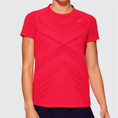Asics Elite Tennis Tee Shirt Womens Diva Pink 2042A093 700
