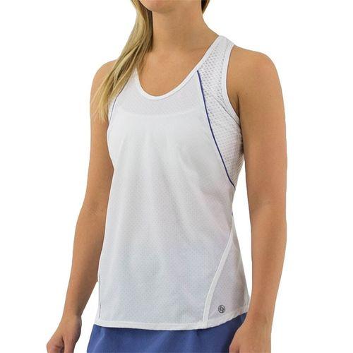 Lija Winning Streak Break Tank Womens White/Grotto Blue 20S 1639T2