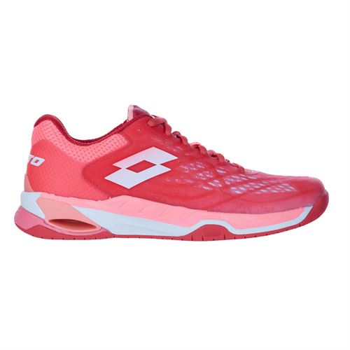 Lotto Mirage 100 Speed Womens Tennis Shoe Red Fluo/White/Rose 210739 5Z3