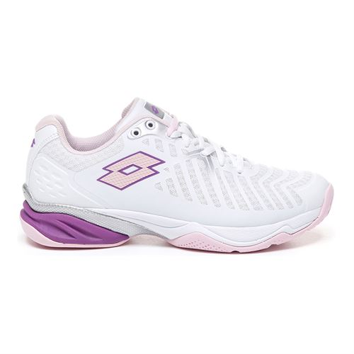 Lotto Space 400 All Round Womens Tennis Shoe - White/Pink Cherry/Purple Willow