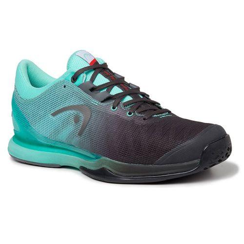 Head Sprint Pro 3.0 Mens Tennis Shoe Black/Teal 273040
