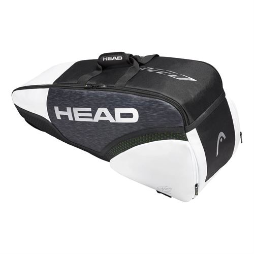 Head Djokovic 6 Pack Combi Tennis Bag -Black/White