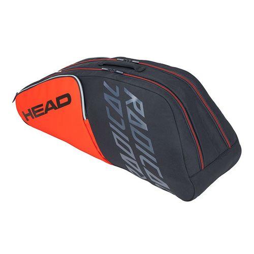 Head Radical 6 Racquet Combi Tennis Bag - Orange/Grey