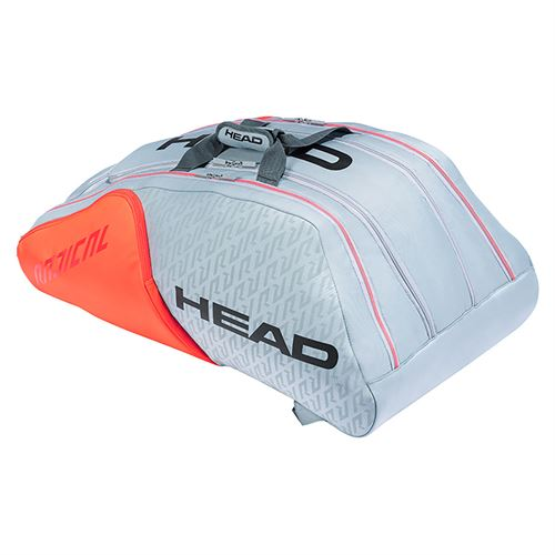 Head Radical Monstercombi 12 Pack Tennis Bag - Grey/Orange