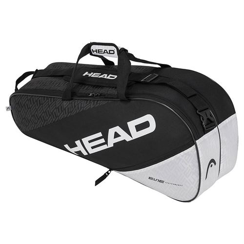 Head Elite Combi 6 Pack Tennis Bag - Black/White