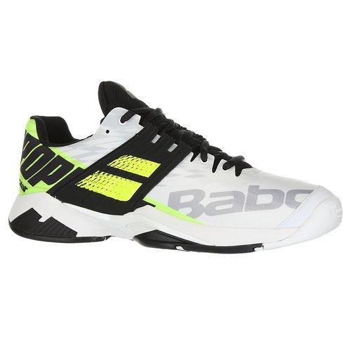 Babolat Propulse Fury All Court Mens Tennis Shoe - White/Fluo Aero