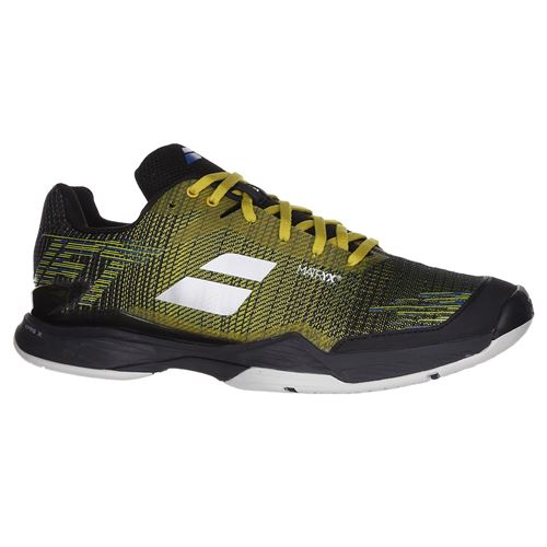 Babolat Jet Mach II All Court Mens Tennis Shoe (RUNS SMALL - SIZE UP 1/2 SIZE) - Dark Yellow/Black