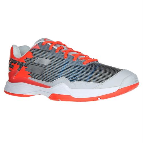 Babolat Jet Mach I All Court Mens Tennis Shoe - Silver/Fluo Strike Red