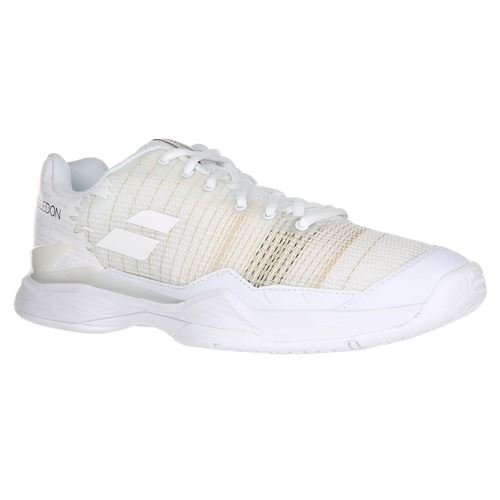 Babolat Jet Mach I All Court Wimbledon Mens Tennis Shoe - White/White