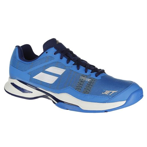 Babolat Jet Mach 1 All Court Mens Tennis Shoe - Diva Blue/ White