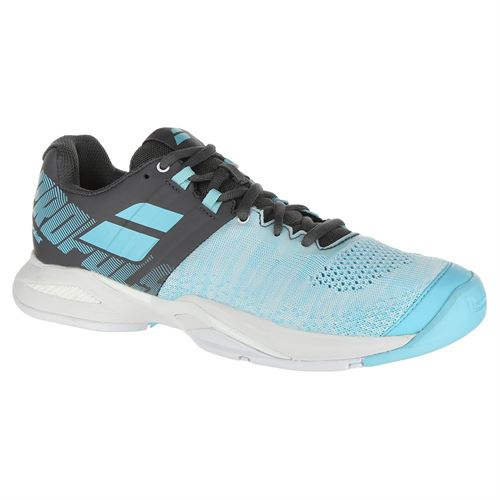 Babolat Propulse Blast All Court Womens Tennis Shoe - Grey/Blue Radiance