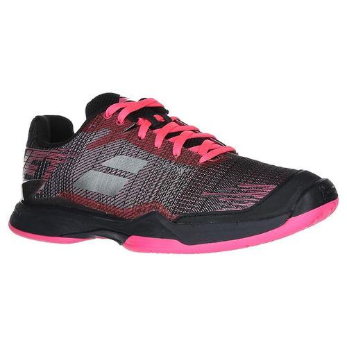 Babolat Jet Mach II Clay Womens Tennis Shoe (RUNS SMALL - SIZE UP 1/2 SIZE)- Pink/Black