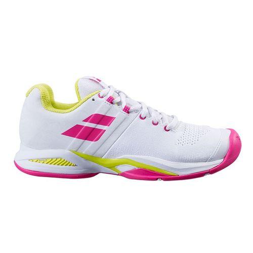 Babolat Propulse Blast All Court Womens Tennis Shoe White/Red Rose 31S21447 1058
