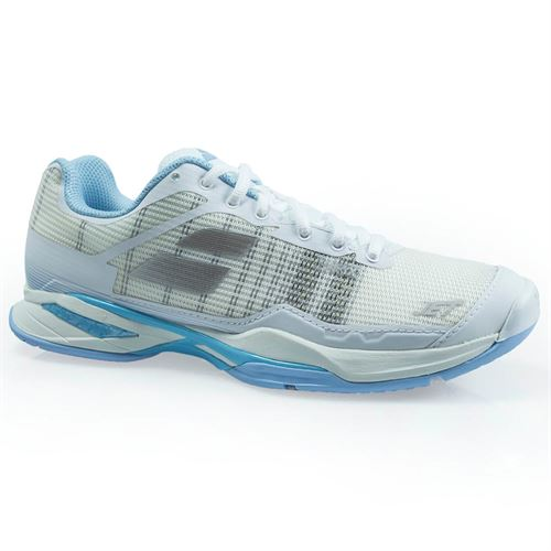 Babolat Jet Mach 1 All Court Womens Tennis Shoe - White/Sky Blue