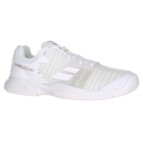 Babolat All Court Wimbledon Junior Tennis Shoe - White/White