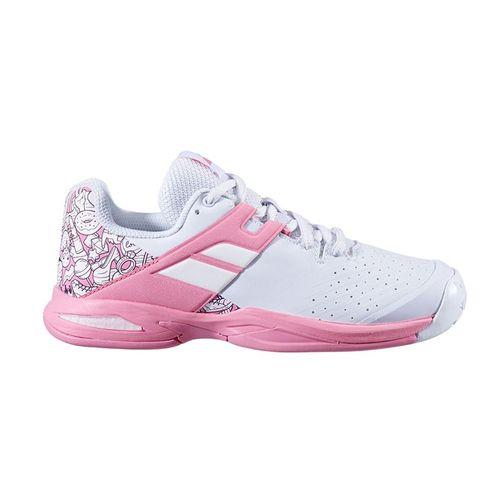 Babolat Junior Propulse All Court Tennis Shoe White/Geranium Pink 32S20478 1040