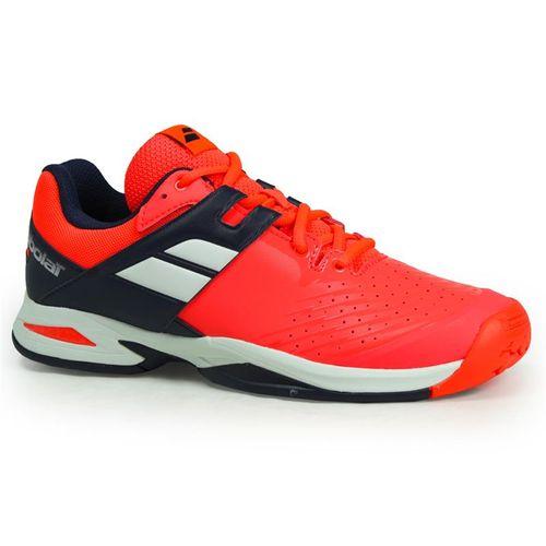 Babolat Junior All Court Tennis Shoe - Fluro Red