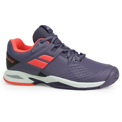 Babolat Junior All Court Tennis Shoe - Purple/Pink