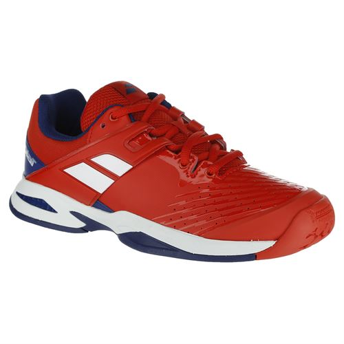 Babolat Propulse Fury All Court Junior Tennis Shoe - Red/Blue