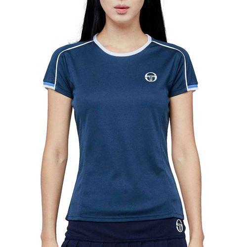 Sergio Tacchini Pliage Tee Shirt Womens Campanula/White 38484 295