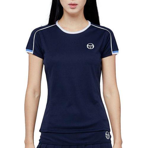 Sergio Tacchini Pliage Tee Shirt Womens Navy/White 38484 297