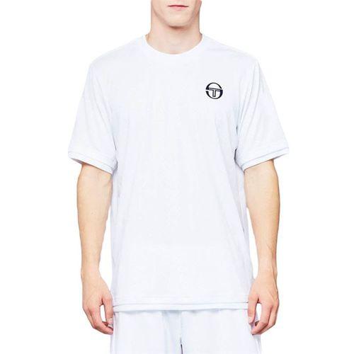 Sergio Tacchini Roland Garros Chevron Crew Shirt Mens White/Navy 38494 100