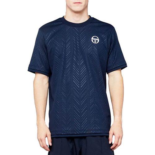 Sergio Tacchini Chevron Crew Shirt Mens Navy/White 38494 200