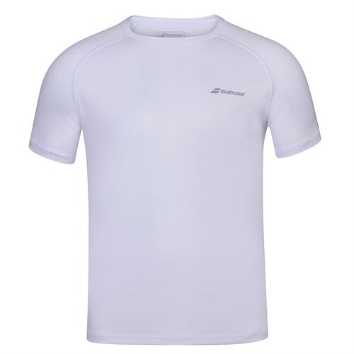 Babolat Play Crew Shirt Mens White 3MP1011 1000S