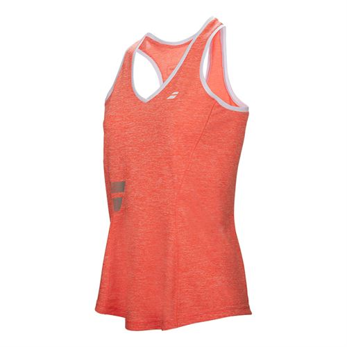 Babolat Core Crop Top - Fluo Red