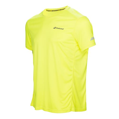 Babolat Boys Core Flag Club Crew - Aero Yellow