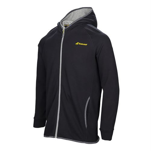 Babolat Boys Core Hooded Sweat Shirt - Black
