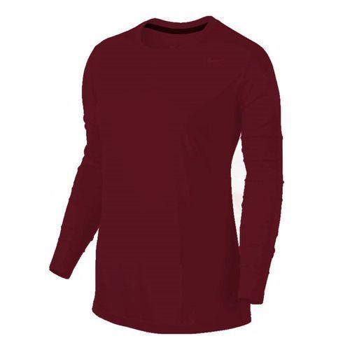 Nike Team Legend Long Sleeve - Cardinal/Cool Grey