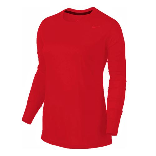 Nike Team Legend Long Sleeve - Scarlet/Cool Grey